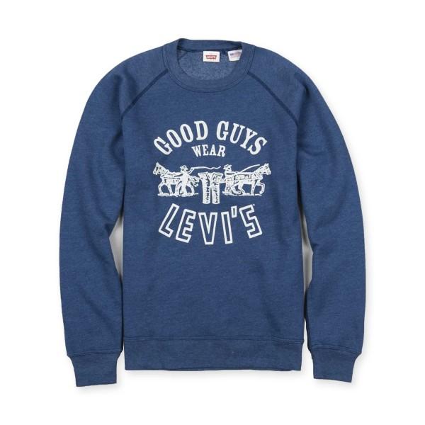 Levi's Vintage Clothing 1970's Crew Neck Sweatshirt (Blue Melee)