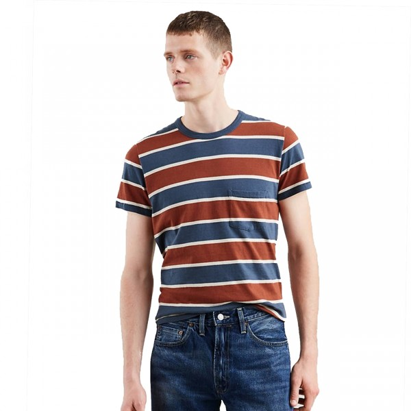 Levi's Vintage Clothing 1960's Casuals Stripe T-Shirt (Dark Denim Multi)