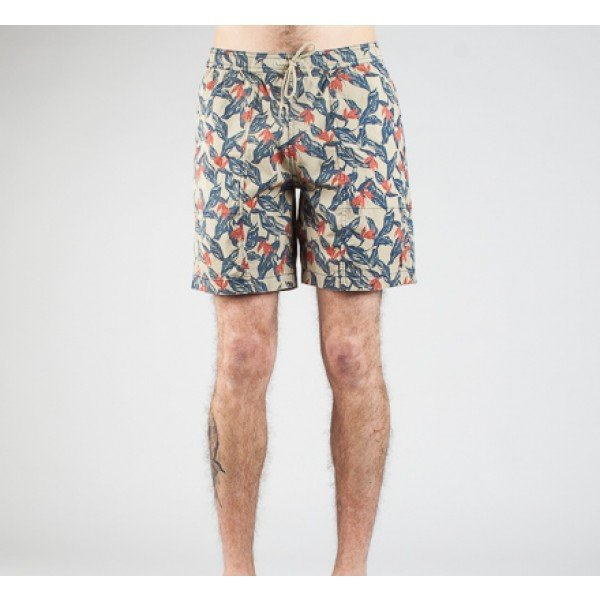 Lightning Bolt Turtle Stretch Floral Boardshort (Twill)