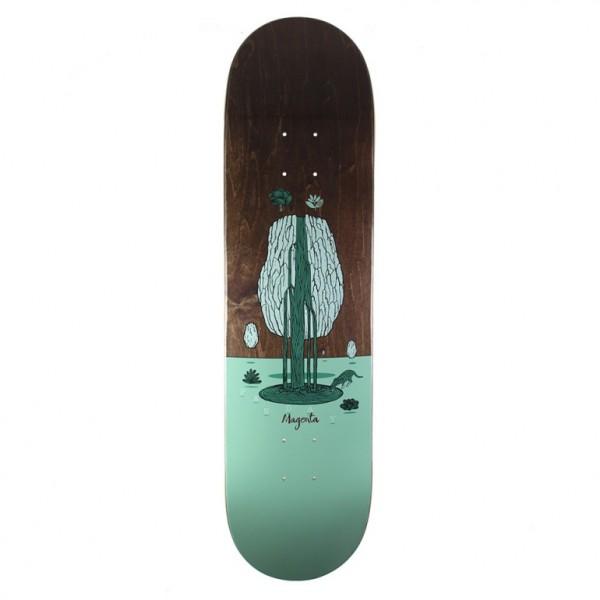 "Magenta Soy Panday Landscape Skateboard Deck 7.75"""