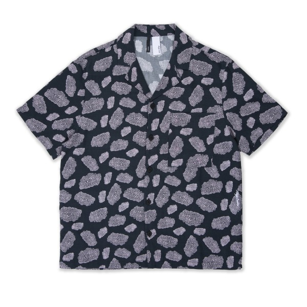 Magic Castles Camp Collar Shirt (Shapes Print Black)