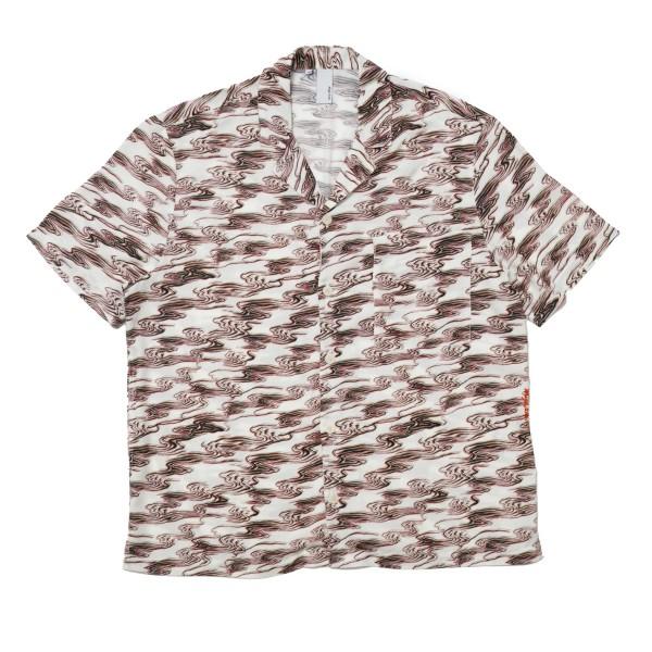 Magic Castles Camp Collar Shirt (Waves Print Off White)