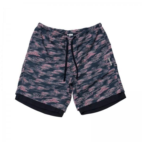 Magic Castles Two Layer Shorts (Waves Print Navy)