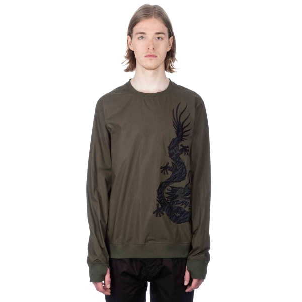 Maharishi Black Dragon Woven Track Top (Mil Olive)