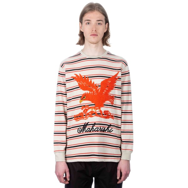 Maharishi Maha Eagle Long Sleeve T-Shirt (Ecru)
