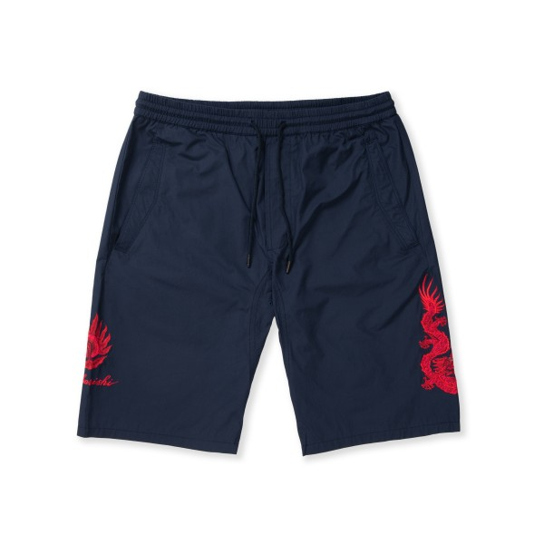 Maharishi Pearl of Wisdom Track Short (Navy The Great Red Dragon Embroidery)