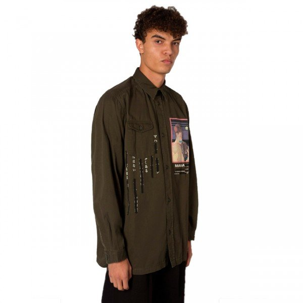 Maharishi Tron Geisha Mil Shirt (Military Olive)