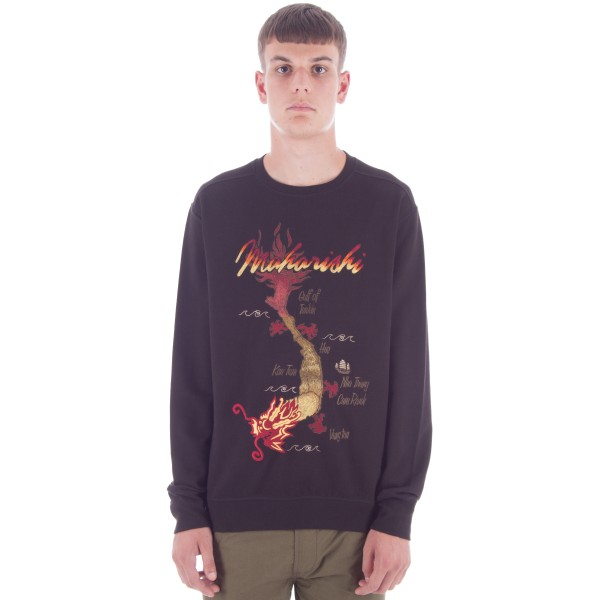 Maharishi Viet Tour Crew Neck Sweatshirt (Black)