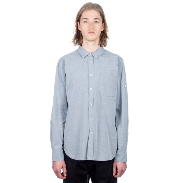 MHL by Margaret Howell Basic Shirt (Dry Cotton Chambray Blue)
