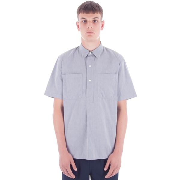 MHL by Margaret Howell Pleat Back Work T-Shirt (Poplin/GZT Grey)