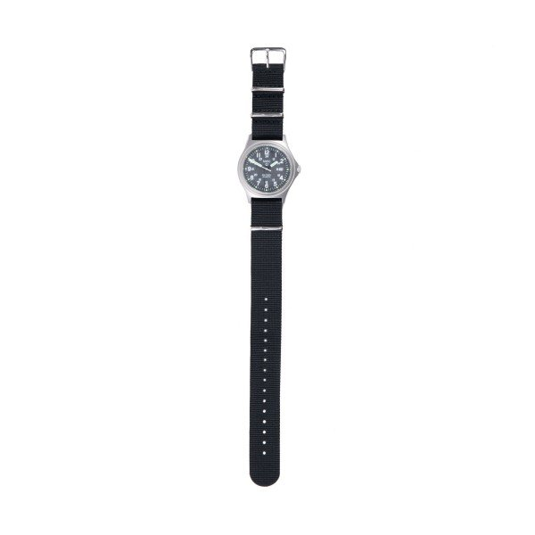 MWC G10BH 12/24 Military Watch (Stainless Steel/Black)