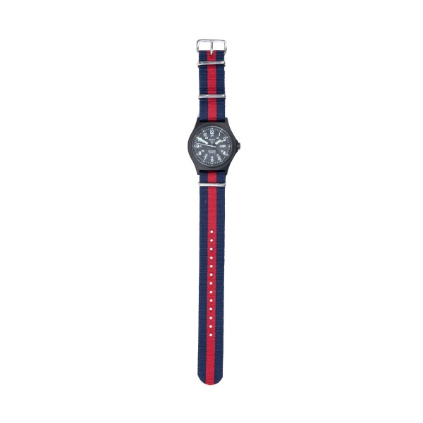 MWC G10BH PVD 12/24 Military Watch (PVD Black/Red/Navy)