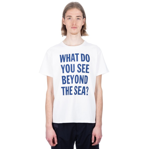 Nanamica H/S Crew Neck Graphic T-shirt (White)