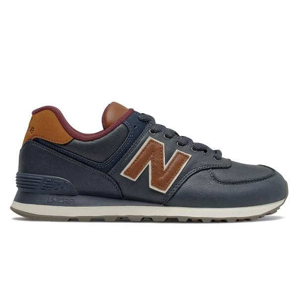 New Balance 574 (NB Navy/Classic Burgundy)