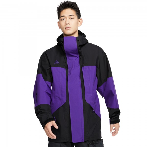 Nike ACG GORE-TEX Hooded Jacket (Black/Court Purple/Court Purple)