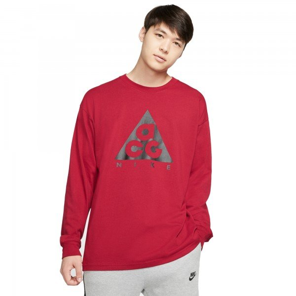 Nike ACG NRG Logo Long Sleeve T-Shirt (Noble Red/Black)