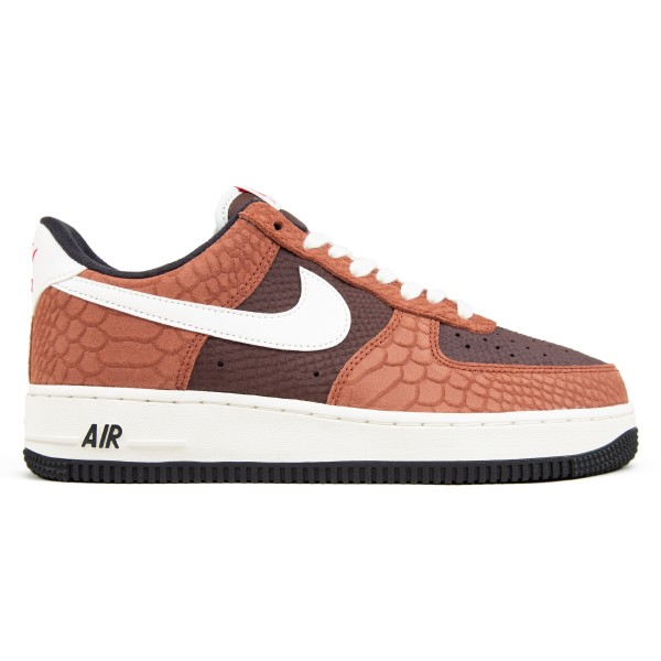 Nike Air Force 1 Premium 'Snakeskin Brown' (Red Bark/Sail-Earth-University Red)