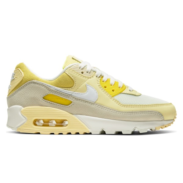 Nike Air Max 90 WMNS (Opti Yellow/White-Fossil-Bicycle Yellow)