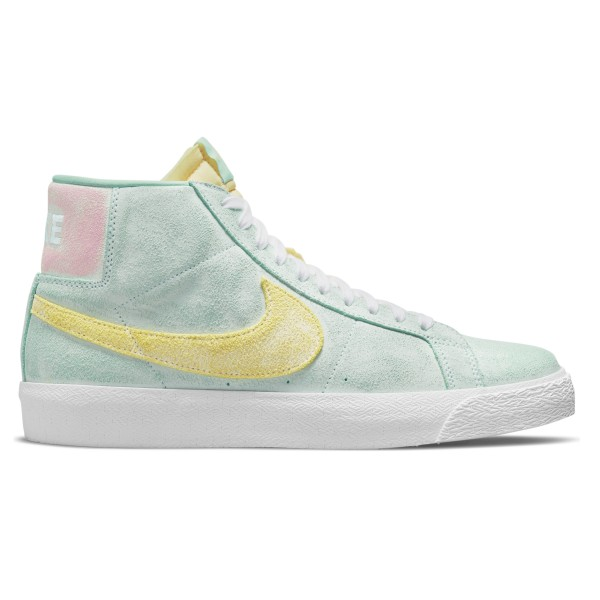 Nike SB Blazer Zoom Mid Premium 'Faded Pack' (Light Dew/Light Zitron-Green Glow)