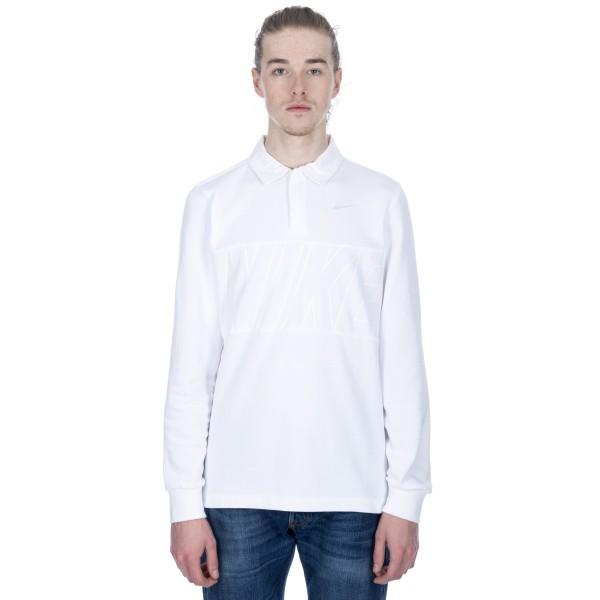 Nike SB Dry Long Sleeve Polo Shirt (White/White/White/White)