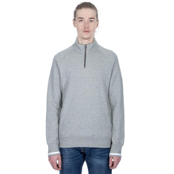 Nike SB Everett Mock Half-Zip (Dark Grey Heather/White/Dark Steel Grey)