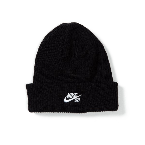 Nike SB Fisherman Beanie (Black/White)