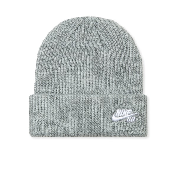 Nike SB Fisherman Beanie (Dark Grey Heather/White)