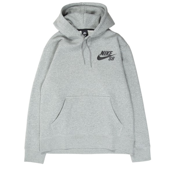 Nike SB Icon Pullover Hooded Sweatshirt (Dark Grey Heather/Black)