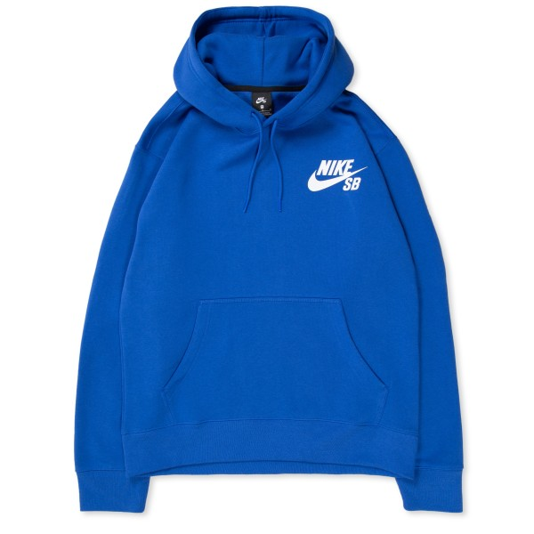 Nike SB Icon Pullover Hooded Sweatshirt (Game Royal/White)