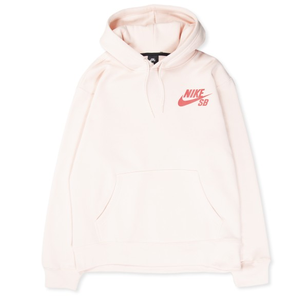 Nike SB Icon Pullover Hooded Sweatshirt (Orange Pearl/LT Fusion Red)