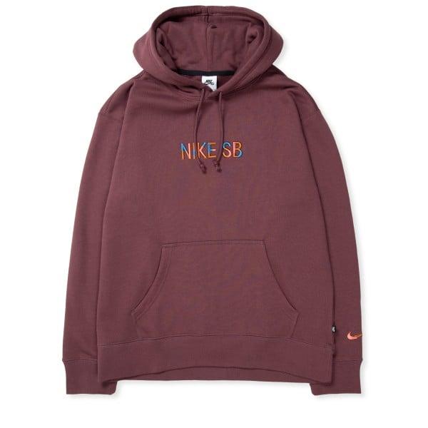 Nike SB Mosaic Premium Fleece Pullover Hooded Sweatshirt (Dark Wine/Navy/Pink Salt)