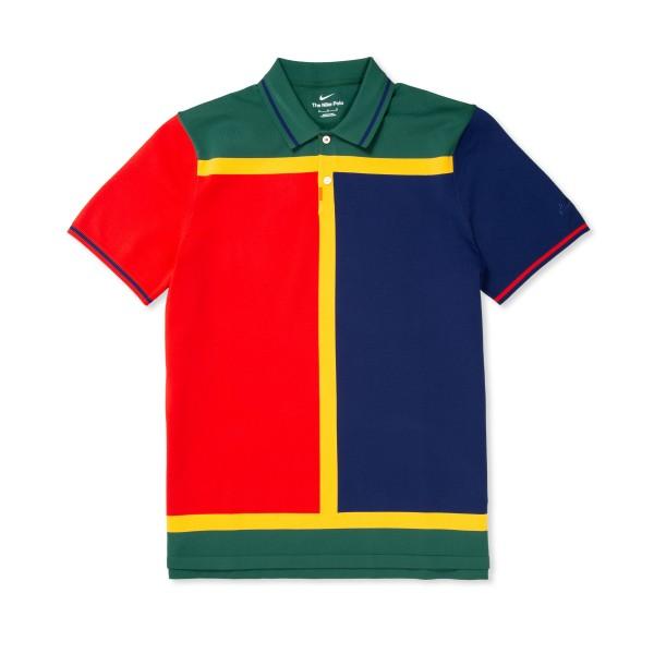 Nike SB Polo Shirt (Binary Blue/University Red-Binary Blue)