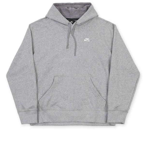 Nike SB Pullover Hooded Sweatshirt (Dark Grey Heather/White)