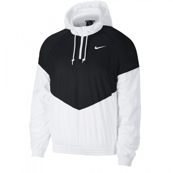 Nike SB Shield Hooded Jacket (Black/White/White)