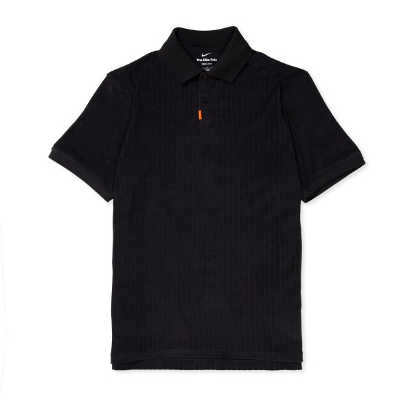 Nike SB Terry Cloth Polo Shirt 'Orange Label Collection' (Black/Black)
