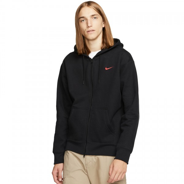 "Nike SB x Oski Full Zip Hooded Sweatshirt ""Orange Label Collection"" (Black/University Red)"