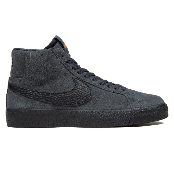 Nike SB Zoom Blazer Mid ISO 'Orange Label Collection' (Dark Smoke Grey/Black-Dark Smoke Grey-Black)