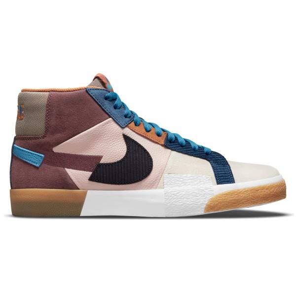 Nike SB Zoom Blazer Mid Premium 'Mosaic Pack' (Dark Wine/Black-Pink Oxford-Cashmere)