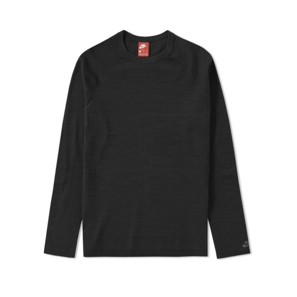 Nike Tech Knit Crew Neck Sweatshirt (Black)