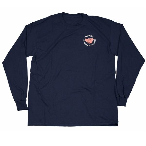 North Supplies Logo Long Sleeve T-Shirt (Navy/White/Peach)