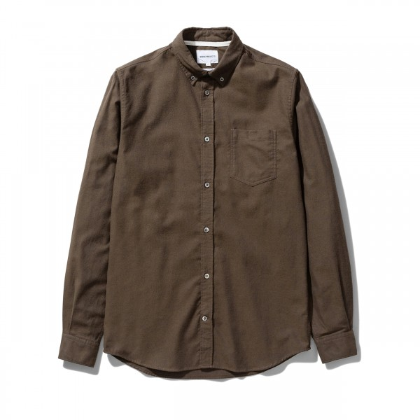Norse Projects Anton Brushed Flannel (Dark Green)