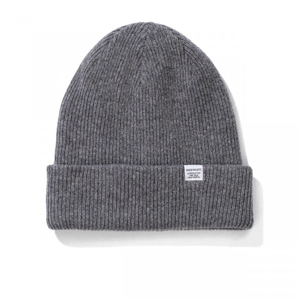 Norse Projects Beanie (Grey Melange)