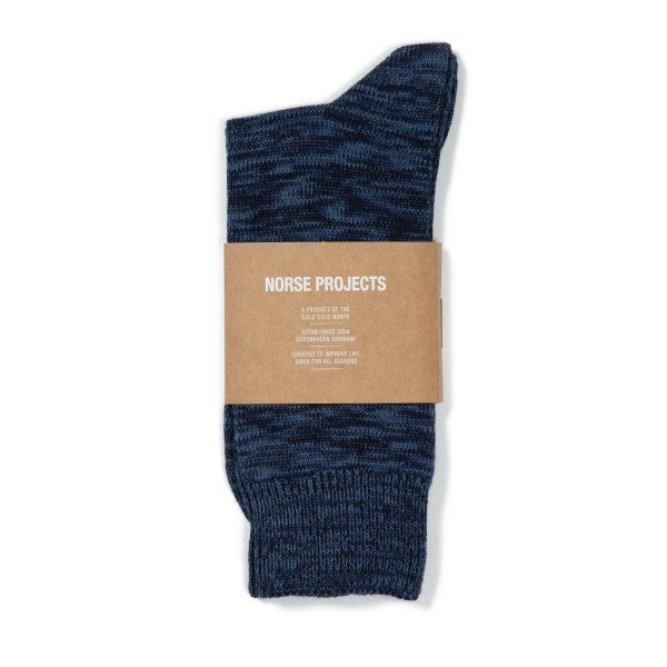 Norse Projects Bjarki Blend Socks (Dark Navy)
