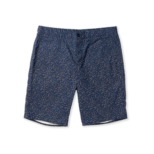 Norse Projects Bruno Poplin Slub Print Short (Dark Navy)