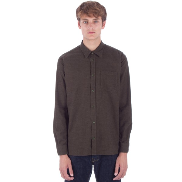 Norse Projects Hans Mouline Shirt (Dried Olive)