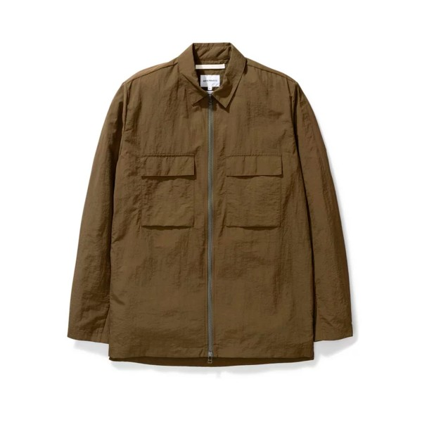 Norse Projects Jens Zip Shirt Jacket (Ivy Green)