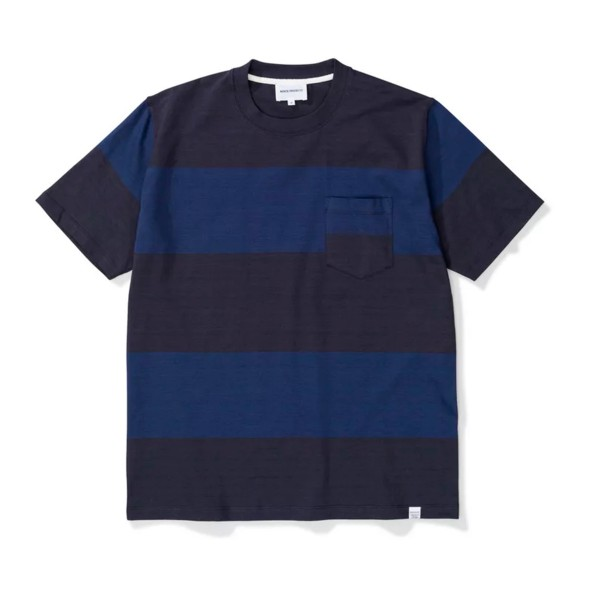 Norse Projects Johannes Block Stripe T-Shirt (Dark Navy)