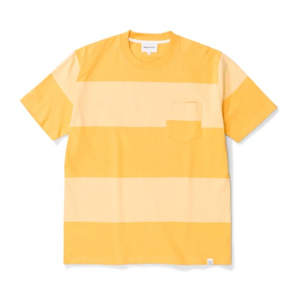 Norse Projects Johannes Block Stripe T-Shirt (Sunwashed Yellow)