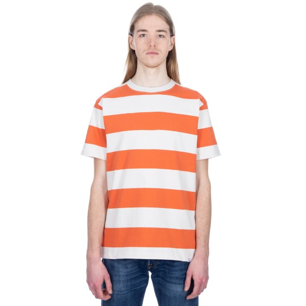 Norse Projects Johannes Wide Stripe T-Shirt (Burned Red)