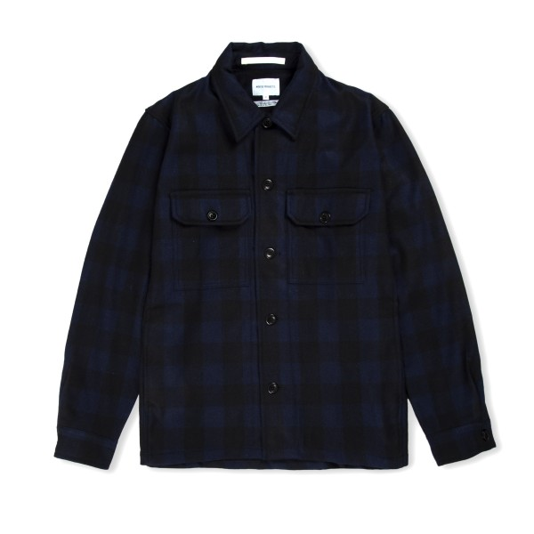 Norse Projects Kyle Wool Shirt (Dark Navy)